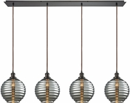 ELK 56550-4LP Ridley Contemporary Oil Rubbed Bronze Multi Hanging Pendant Light