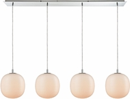 ELK 56560-4LP Beehive Contemporary Polished Chrome Multi Ceiling Pendant Light