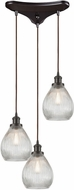 ELK 56582-3 Jackson Modern Oil Rubbed Bronze Multi Hanging Light Fixture
