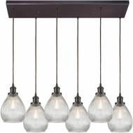 ELK 56582-6RC Jackson Modern Oil Rubbed Bronze Multi Ceiling Pendant Light