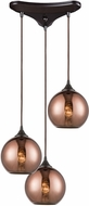 ELK 56583-3 Copperhead Modern Oil Rubbed Bronze Multi Drop Lighting Fixture