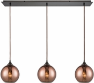 ELK 56583-3LP Copperhead Modern Oil Rubbed Bronze Multi Pendant Light