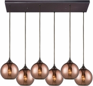 ELK 56583-6RC Copperhead Modern Oil Rubbed Bronze Multi Pendant Lamp