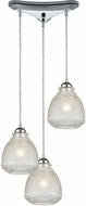 ELK 56590-3 Victoriana Contemporary Polished Chrome Multi Pendant Light Fixture