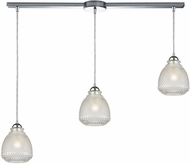 ELK 56590-3L Victoriana Modern Polished Chrome Multi Pendant Lighting Fixture