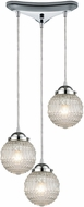ELK 56591-3 Victoriana Contemporary Polished Chrome Multi Drop Lighting