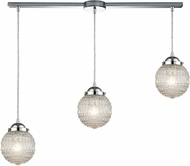 ELK 56591-3L Victoriana Modern Polished Chrome Multi Drop Ceiling Lighting