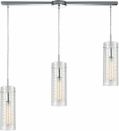 ELK 56595-3L Swirl Modern Polished Chrome Multi Pendant Light