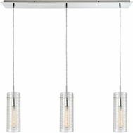 ELK 56595-3LP Swirl Contemporary Polished Chrome Multi Lighting Pendant