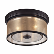 ELK 57025-2 Diffusion Contemporary Oil Rubbed Bronze Flush Lighting