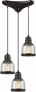 ELK 60068-3 Menlow Park Contemporary Oil Rubbed Bronze Multi Drop Lighting