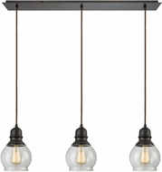 ELK 60069-3LP Menlow Park Modern Oil Rubbed Bronze Multi Drop Lighting Fixture