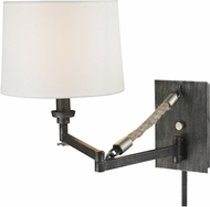ELK 63050-1 Natural Rope Modern Silvered Graphite/Polished Nickel Swing Arm Lamp