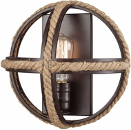 ELK 63061-1 Natural Rope Modern Oil Rubbed Bronze Wall Mounted Lamp
