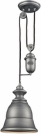 ELK 65160-1 Farmhouse Weathered Zinc Mini Hanging Lamp