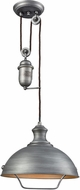 ELK 65161-1 Farmhouse Weathered Zinc Hanging Light
