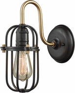 ELK 65215-1 Binghamton Oil Rubbed Bronze,Satin Brass Lamp Sconce