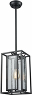 ELK 65261-1 Eastgate Contemporary Textured Black Foyer Light Fixture