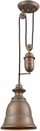 ELK 65270-1 Farmhouse Tarnished Brass Mini Drop Lighting