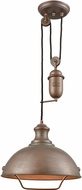 ELK 65271-1 Farmhouse Tarnished Brass Drop Ceiling Lighting