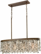 ELK 65306-4 Agate Stones Contemporary Weathered Bronze Island Light Fixture