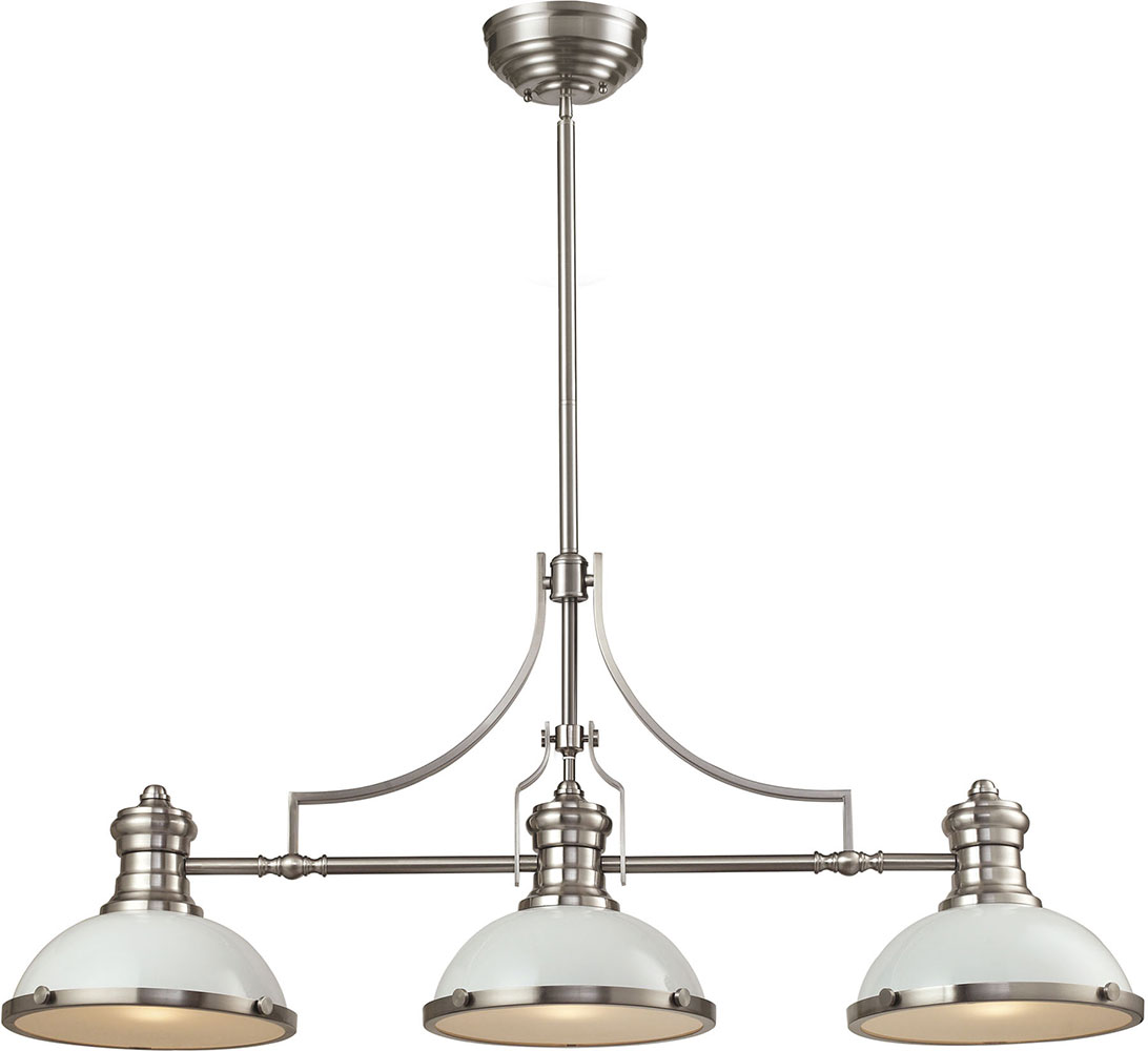 elk chadwick gloss whitesatin nickel island light fixture loading zoom