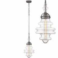 ELK 66167-1 Gramercy Modern Weathered Zinc Mini Pendant Lamp