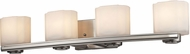 ELK 66188-4 New Haven Contemporary Brushed Nickel 4-Light Bathroom Lighting Fixture
