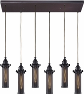 ELK 66325-6RC Fulton Modern Oil Rubbed Bronze Multi Pendant Lamp