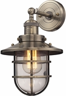 ELK 66376-1 Seaport Nautical Antique Brass Lighting Wall Sconce
