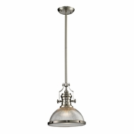 ELK 66523-1 Chadwick Modern Satin Nickel Drop Ceiling Light Fixture