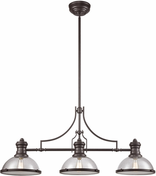 ELK 66535-3 Chadwick Modern Oil Rubbed Bronze Kitchen Island Light Fixture  sc 1 st  Affordable L&s & ELK 66535-3 Chadwick Modern Oil Rubbed Bronze Kitchen Island Light ...