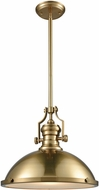 ELK 66598-1 Chadwick Satin Brass Pendant Lighting Fixture