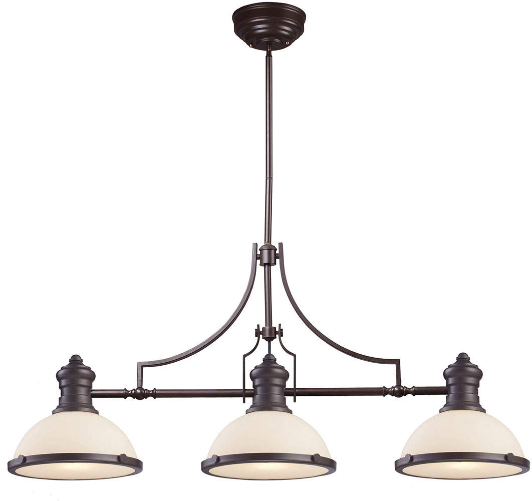 Elk 66635 3 modern oiled bronze kitchen island light for Island kitchen lighting fixtures