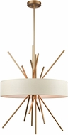 ELK 66973-5 Xenia Contemporary Matte Gold Drum Drop Ceiling Lighting