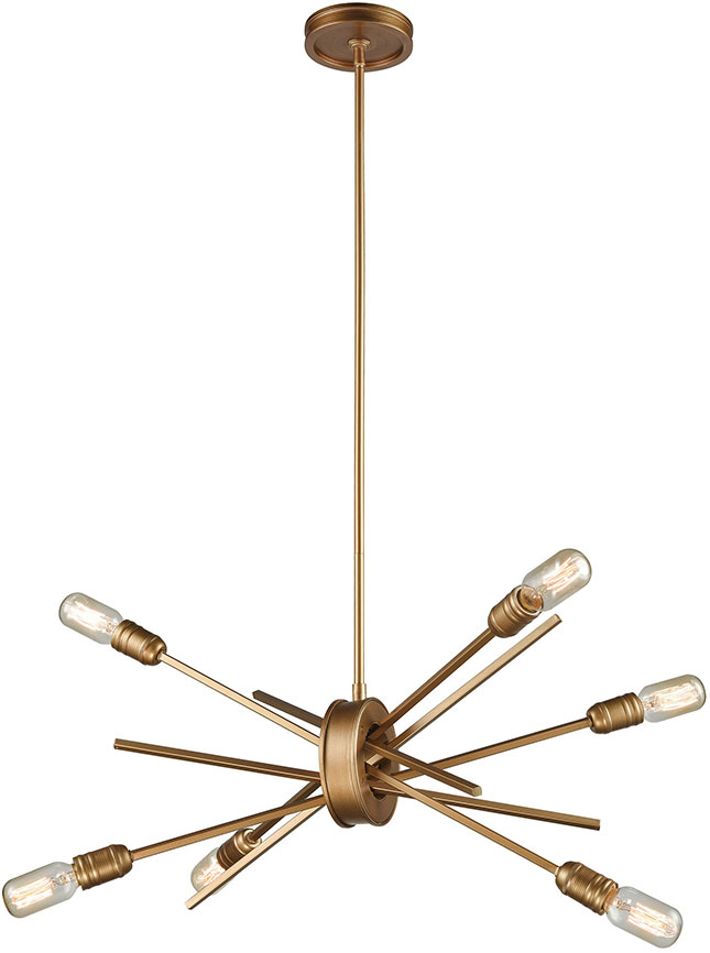 Elk 66974 6 xenia modern matte gold mini chandelier light elk 66974 6 elk 66974 6 xenia modern matte gold mini chandelier light loading zoom mozeypictures Image collections