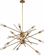 ELK 66975-12 Xenia Contemporary Matte Gold Chandelier Lighting