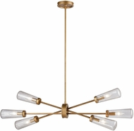 ELK 66984-6 Xenia Contemporary Matte Gold 38  Kitchen Island Light