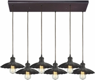 ELK 67040-6RC Corrine Contemporary Oil Rubbed Bronze Multi Drop Lighting Fixture