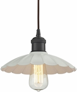ELK 67041-1 Corrine Modern Oil Rubbed Bronze/White Mini Pendant Lighting