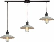 ELK 67041-3L Corrine Modern Oil Rubbed Bronze/White Multi Lighting Pendant
