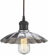 ELK 67042-1 Corrine Contemporary Oil Rubbed Bronze/Chrome Mini Hanging Light