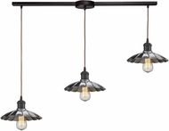 ELK 67042-3L Corrine Contemporary Oil Rubbed Bronze/Chrome Multi Pendant Lighting Fixture