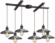 ELK 67042-6 Corrine Modern Oil Rubbed Bronze/Chrome Multi Hanging Pendant Lighting