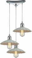 ELK 67051-3 Corrine Contemporary Polished Chrome/White Multi Drop Ceiling Lighting