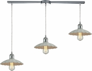 ELK 67051-3L Corrine Modern Polished Chrome/White Multi Ceiling Light Pendant