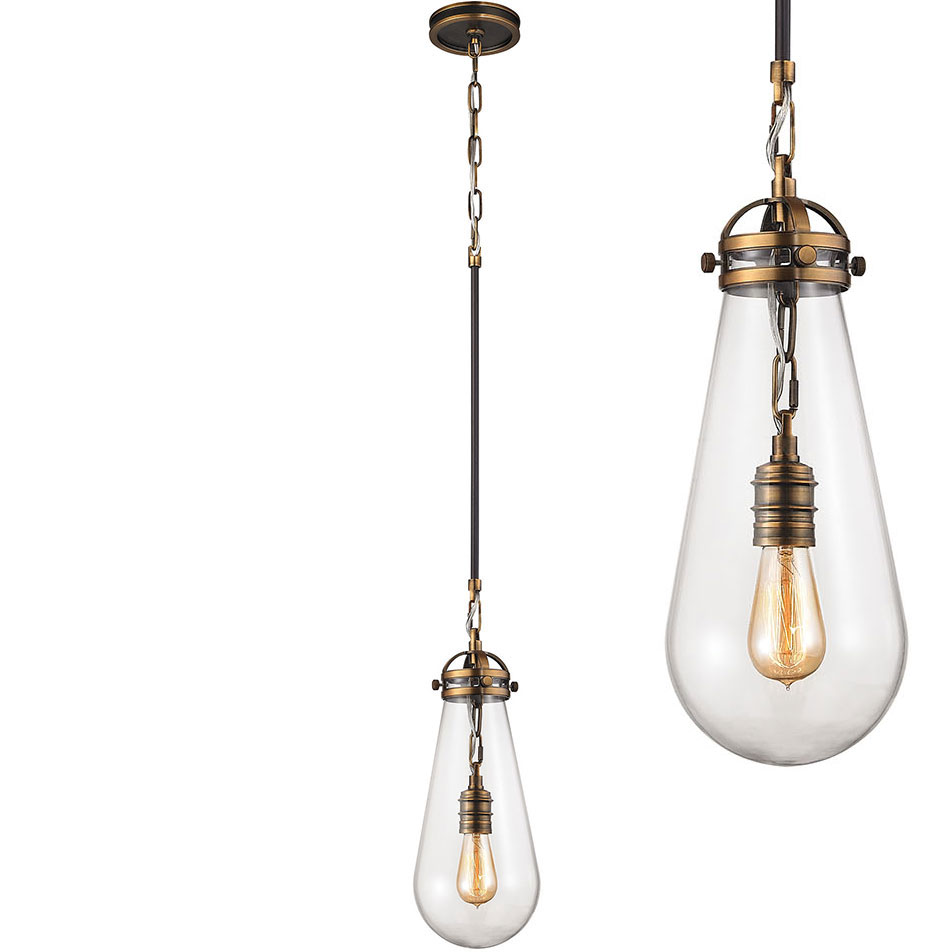 Elk 67130 1 gramercy modern antique brass oil rubbed for Modern hanging pendant lights