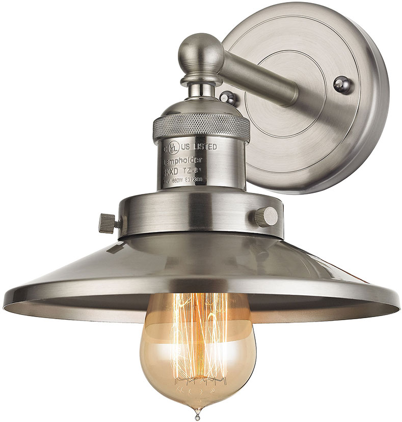 Elk 67170 1 english pub contemporary satin nickel wall light elk 67170 1 english pub contemporary satin nickel wall light sconce loading zoom aloadofball Image collections