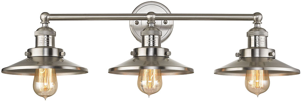 Elk 67172 3 English Pub Contemporary Satin Nickel 4 Light Bathroom Vanity Light Fixture Elk
