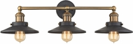 ELK 67182-3 English Pub Contemporary Antique Brass Tarnished Graphite 3-Light Bathroom Light Sconce